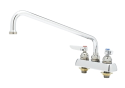 T&S Brass - B-1113 - Workboard Faucet, Deck Mount, 4-inch Centers, 12-inch Swing Nozzle, Lever Handles