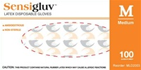 Sensigluv PF Latex Disposable Glove, Textured, N/S (MLD200)