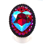 FUCHSIA AB HEART RING
