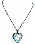 HEART THROB BLUE BIRD HEART NECKLACE