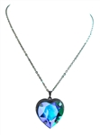 HEART THROB EMERALD OZ HEART NECKLACE