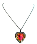 HEART THROB WILD FIRE HEART NECKLACE