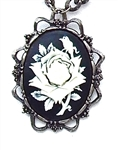 BLACK & WHITE ROSE CAMEO