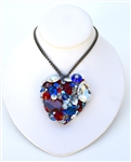AMERICAN WOMAN HEART NECKLACE LARGE