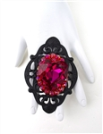 BABY'S ON FIRE FUSCHIA HEART RING