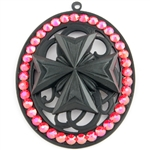 BABY'S ON FIRE FLAT MEDALLION BLACK IRON CROSS MEDALLION