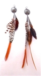 PONDEROSA BONE TOMAHAWK CONCHO EARRINGS