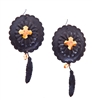 PONDEROSA 3:10 TO YUMA CONCHO EARRINGS