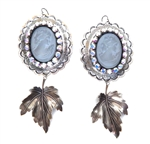 PONDEROSA CRIPPLE CREEK CAMEO CONCHO EARRINGS