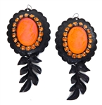 PONDEROSA FIREBIRD CAMEO CONCHO EARRINGS