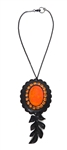 PONDEROSA FIREBIRD CAMEO CONCHO NECKLACE