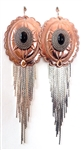 PONDEROSA A FISTFUL OF DOLLARS CONCHO FRINGE EARRINGS
