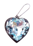 HEART THROB BLUE BIRD HEART EARRING