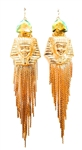 HATSHEPSUT SAGE FRINGE EARRINGS
