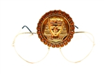 KING TUT HONEY DUST RHINESTONE MEDALLION AVIATORS