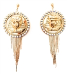 KING TUT OPAL FRINGE EARRINGS