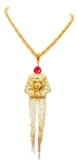 KING TUT SCARLET FRINGE NECKLACE