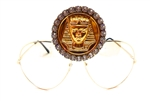 KING TUT MOON DUST RHINESTONE MEDALLION AVIATORS