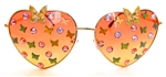 FAIRY REBEL MONARCH GILT BUTTERFLY JUMBO HEART GLASSSES