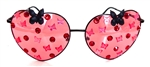 FAIRY REBEL PAINTED LADY RAVEN BUTTERFLY JUMBO HEART GLASSSES