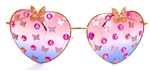 FAIRY REBEL PEACOCK SWALLOWTAIL ROMANTICA BUTTERFLY JUMBO HEART GLASSSES
