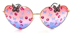 FAIRY REBEL PEACOCK SWALLOWTAIL RANSOM BUTTERFLY JUMBO HEART GLASSSES