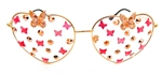 FAIRY REBEL WHITE MORPHO ROMANTICA BUTTERFLY JUMBO HEART GLASSSES