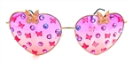FAIRY REBEL BUCKEYE ROMANTICA BUTTERFLY JUMBO HEART GLASSSES