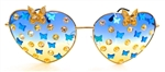 FAIRY REBEL CALIFORNIA SISTER GILT BUTTERFLY JUMBO HEART GLASSSES