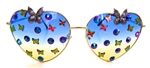 FAIRY REBEL CALIFORNIA SISTER RANSOM BUTTERFLY JUMBO HEART GLASSSES