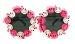 HAPPY PINK & WHITE DONOVAN SUNGLASSES