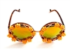 MORNING GLORY YELLOW BIRDCAGE GLASSES