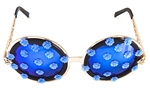 LUCY IN THE SKY WITH DIAMONDS BLUE BIRD BIRDCAGE GLASSES