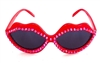 BABY'S ON FIRE RED HOT LIPS SUNGLASSES