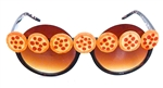 PIZZA PARTY PEPPERONI PIE PEEKABOO GLASSES