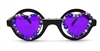 PURPLE LENS / BLACK FRAME LOVERBOY SUNGLASSES