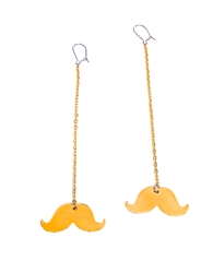 MUSTACHES RIDES GOLD MINI EARRINGS