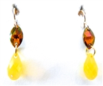 RARE FIND CANARY OPAL DROP EARRINGS