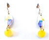 RARE FIND CANARY OPAL RIV EARRINGS