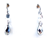 RARE FIND CRYSTAL CHROME OPAL DROP EARRINGS
