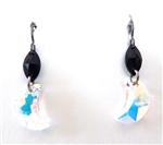 RARE FIND CRYSTAL OPAL MOON EARRINGS