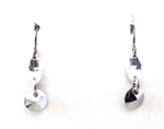 RARE FIND CRYSTAL CHROME RIV EARRINGS