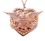 ROSE WATER EAGLE HEART MEDALLION