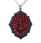 FLAT BLACK ANCHOR MINI NECKLACE