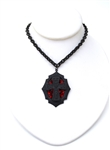 FLAT BLACK DRUNK CROSS MINI NECKLACE