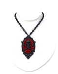 FLAT BLACK SKULL & BONES NECKLACE