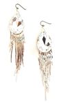 THUNDERBIRD MOONDUST SILVER FRINGE EARRINGS
