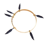 THUNDERBIRD HAWK FEATHER BANGLE