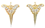 WESTRAY EARRINGS GOLD BUTTERFLY - RHINESTONES