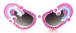 XANADU RAINBOW CATS MEOW GLASSES